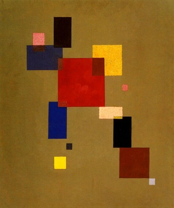 THIRTEEN RECTANGLES 1930 FINE ABSTRACT PAINTING BY WASSILY KANDINSKY REPRO