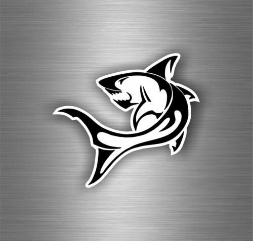 Sticker decal vinyl car bumper shark laptop tribal diver scuba dive flag r1