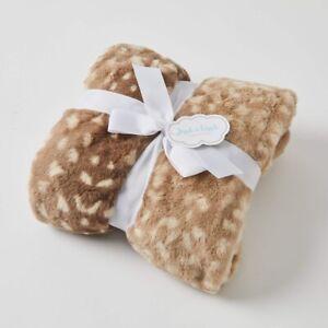 Jiggle & Giggle Doe Skin Faux Fur Super Soft Baby Blanket