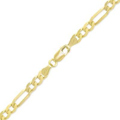 "10K Yellow Gold Hollow Franco Bracelet 2.0mm 7-8/"" Box Chain Link Women Men"