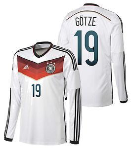 ceaa6baaf77 ADIDAS MARIO GOTZE GERMANY LONG SLEEVE HOME JERSEY FIFA WORLD CUP ...
