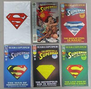 Death-of-Superman-TPB-75-Reign-of-The-Supermen-Doomsday-1st-Prints-DC-Comics