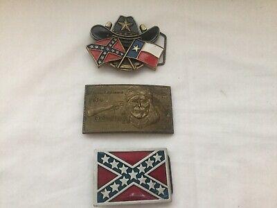 Consegna Veloce Lotto Di 3x Vintage United State Fibbie Per Cintura-mostra Il Titolo Originale