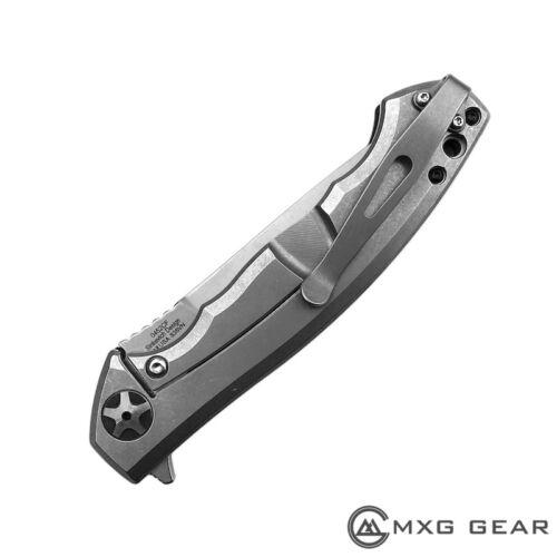 Bronze Custom Titanium Low Rider Pocket Clip Made for Zero Tolerance ZT0452CF