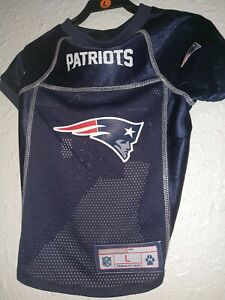 new arrivals 166f4 33c58 Details about New England Patriots NFL Premium Pet Dog Jersey Size L Brand  New