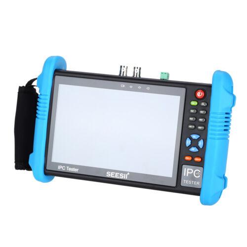 7 Inch H.265 4K CCTV Tester Monitor IP Analog Camera Tester ONVIF POE 12V output