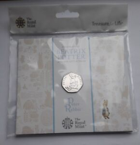 UK-Royal-Mint-2018-Beatrix-Potter-Peter-Rabbit-50p-Fifty-Pence-Coin-Pack-BU-New