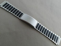 Timex Ironman Triathlon Stainless Steel Black Ends 17mm Buckle Clasp Watch Band