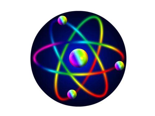 humour 25mm bouton pin badge. Atome atomic particle science physique nouveauté