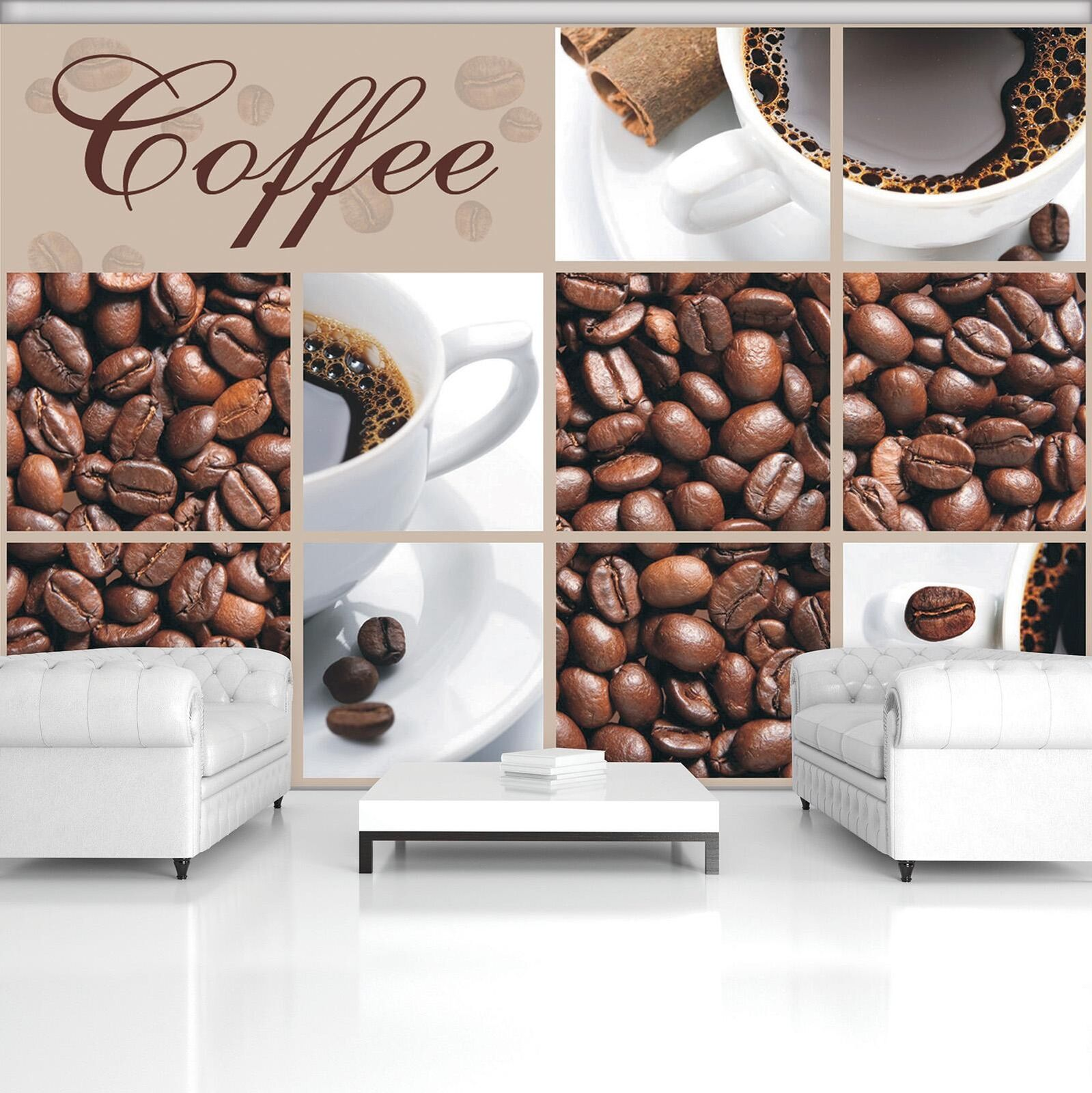 Photo Wallpaper Mural Non-woven 20236_VEN Coffee Beans and Cups Collage Coffee C