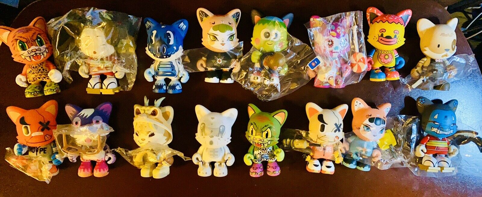 SUPERPLASTIC JANKY SERIES TWO -  LOT OF 16 FIGURES COLLECTION, CHASES