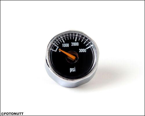 3000PSI haute pression pour HPA Nitro Air CO2 Tank Systems Nouveau Micro Gauge 1 in environ 2.54 cm