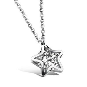 Details About Fashion Jewelry Women Clear Crystal Star Pendant Necklace Birthday Gift For Girl