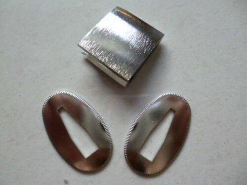 Surface silver 2 X SEPPA HABAKI FOR JAPANESE SWORD