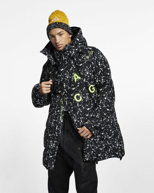 Nike NikeLab ACG Down Fill Men's Parka Jacket Black AQ3517 010 Size XL