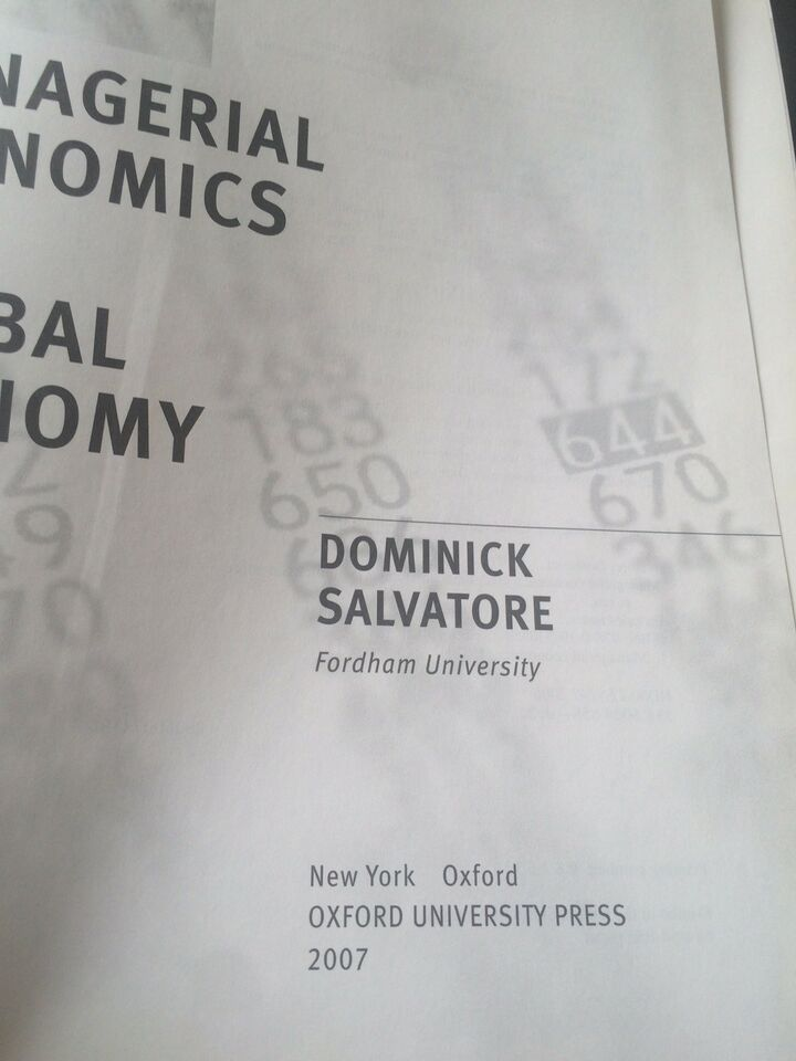 Managerial Economics Iin a Global Economy, Dominicansk