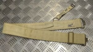 Genuine-Vintage-British-MOD-Issued-off-White-Cotton-Canvas-2-034-Wide-Belt