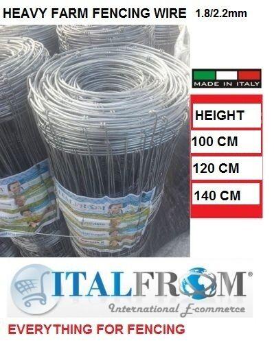 Galvanisé noués treillis métallique 50mt clôtures agricoles