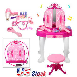 Image Is Loading Pink Make Up Vanity Table For Little Girls