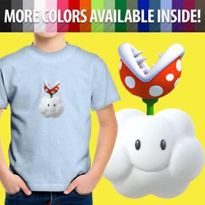 Toddler Kids Tee Youth T-Shirt Boy Gift Cute Mario Piranha Plant Cloud Flower