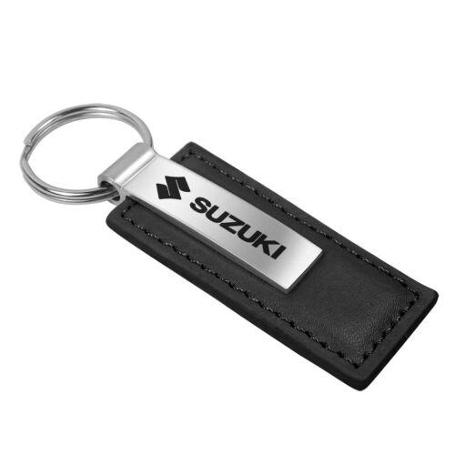 Suzuki Black Leather Key Chain