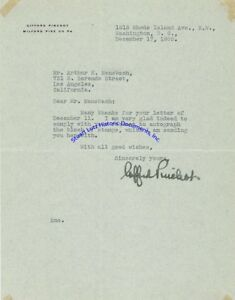 Gifford-Pinchot-signed-letter-Pennsylvania-conservationist-amp-Governor
