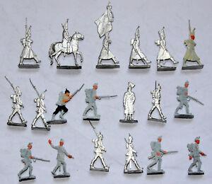 30mm flats zinnfiguren ww1 early prussian guards & infantry white metal