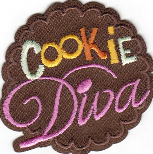 "/""COOKIE DIVA/"" Iron On Patch Cookies Treats Scouts"