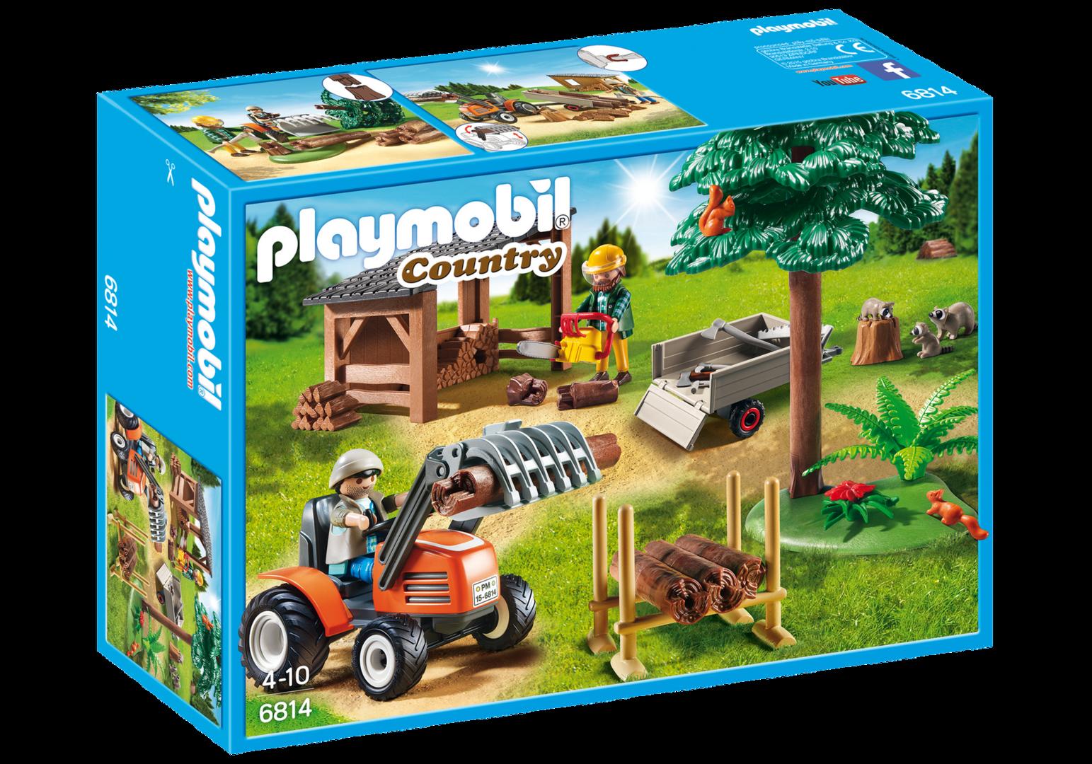 Playmobil 6814 - Leñador con Tractor - NUEVO NEW
