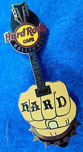 Hollywood-Punk-Balancin-Tatuaje-Mano-Fist-Puas-Guitarra-2011-Hard-Rock-Cafe-Pin