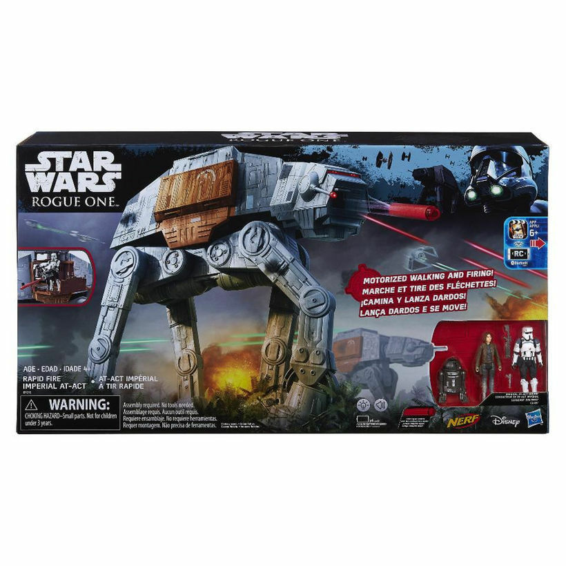 STAR WARS ROGUE ONE MOTORIZED RAPID FIRE IMPERIAL AT-ACT  Nuovo in Box
