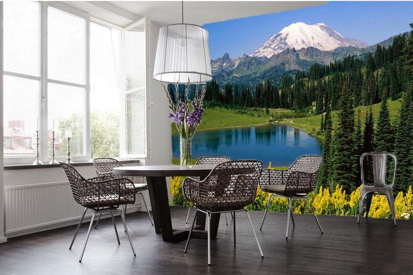 3D Natürlich Schneeberg 933 Tapete Wandgemälde Tapeten Bild Familie DE Lemon