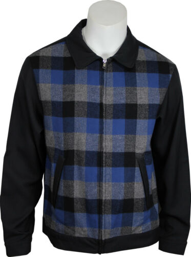 Retro Clothing for Men | Vintage Men's Fashion    Daddy-Os Vintage Inspired Mens 50s Styled Black Plaid Jacket. NEW & All Sizes $49.95 AT vintagedancer.com