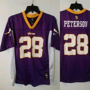 promo code 2533a d7530 Details about Minnesota Vikings Jersey KIDS YOUTH size XL (18-20) #28  Adrian Peterson REEBOK
