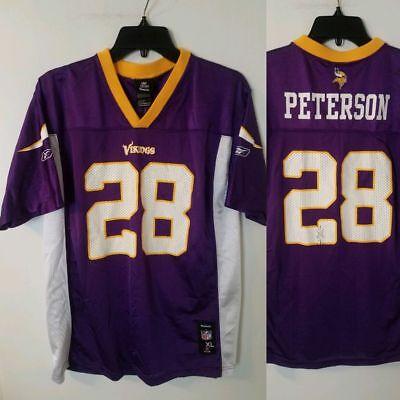 separation shoes 28ba2 c9e42 Minnesota Vikings Jersey KIDS YOUTH size XL (18-20) #28 Adrian Peterson  REEBOK   eBay