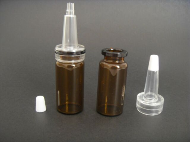 10ml Amber Glass Bottle W/Plastic Squeeze Trumpet Eye Dropper,Essential oil Vial