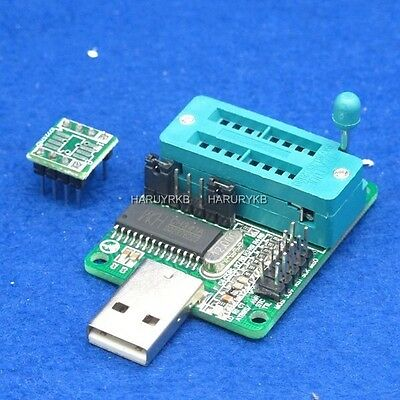 USB Port 24CXX 25XX EEPROM Programmer 24C1024 25T80 support XP VISTA WIN7
