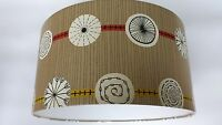 Atomic-sanderson 50s Collection Wallpaper Lampshade 14,16,18inch.(gold/red)