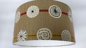 ATOMIC-SANDERSON-50s-collection-WALLPAPER-LAMPSHADE-14-034-16-034-18inch-Gold-red