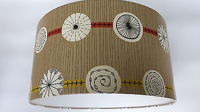 "ATOMIC-SANDERSON 50s collection  WALLPAPER LAMPSHADE 14"",16"",18inch.(Gold/red)"