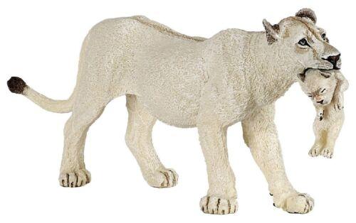 Figur Spielfigur Papo Wildtiere 50203 weiße Löwin mit Jungtier NEU