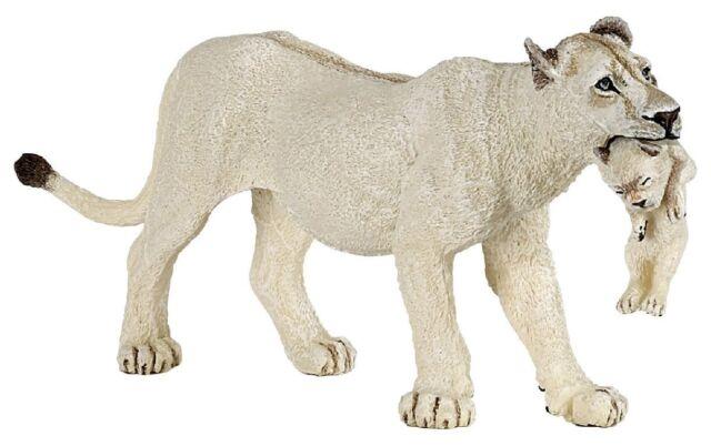 Figur / Spielfigur Papo Wildtiere 50203 weiße Löwin mit Jungtier - NEU