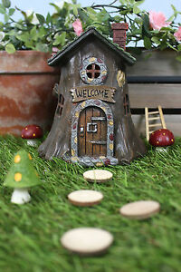 Image Is Loading Tree Trunk Style FAIRY HOUSE With LED Light