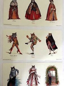 cat prints from venice set of 3 stamped signed limited edition