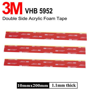 Double-Sided-Pad-3M-Automotive-Truck-Auto-Acrylic-Tape-Adhesive-Sticky-10mm-20mm
