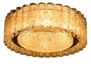 Doria-Decken-Leuchter-Glas-Roehrchen-Lampe-Luester-46-cm-Vintage-60er-Jahre