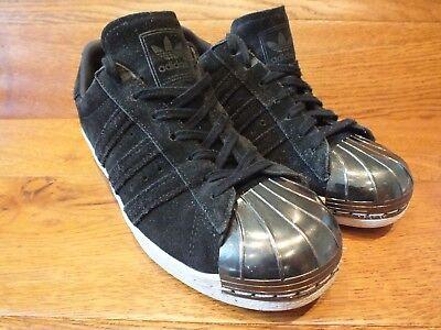 Adidas Superstar 80 S Metal toe en daim Noir Baskets Décontractées Taille UK 6 EU 39 | eBay