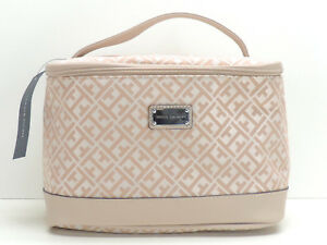 Tommy Hilfiger Train Case Cosmetic Bag Makeup Travel Pink