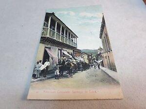 OLD STREET SCENE AMERICAN CONSULATE SANTIAGO DE CUBA POSTCARD