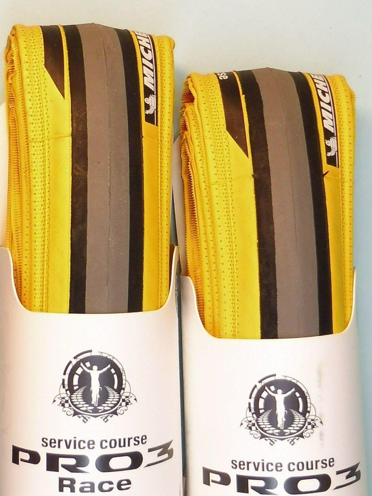 Zwei - Michelin pro 3 Rennen ( yellow. 700 - 23) Reifen Nummern